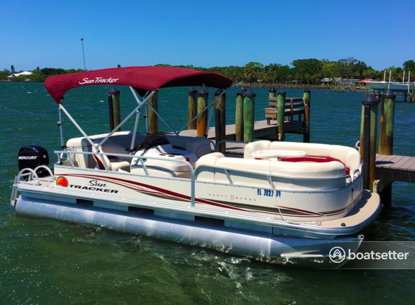 Rent a Sun Tracker by Tracker Marine pontoon in Placida, FL near me