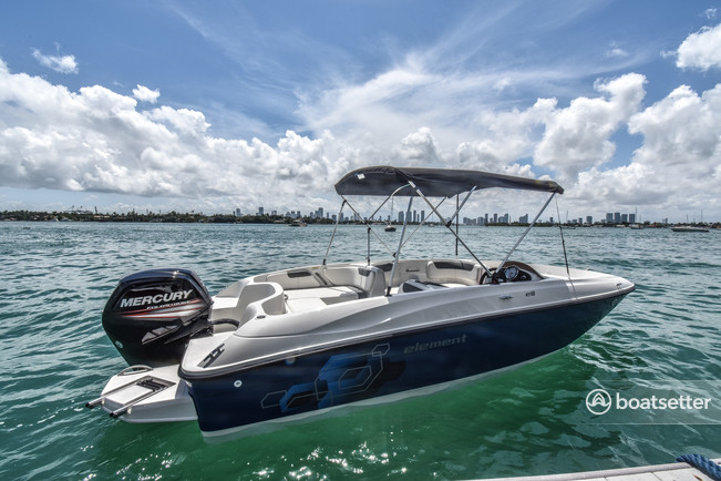 Rent a Bayliner deck boat in Miami, FL near me