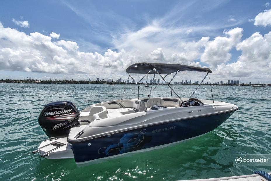 Rent a Bayliner deck boat in Miami, FL near me