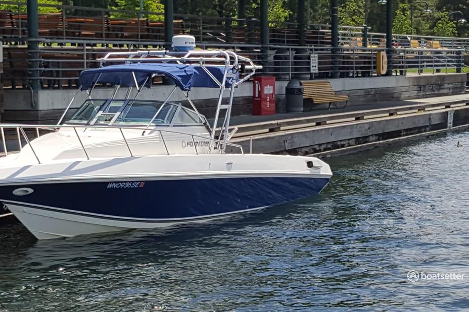 Rent a Fountain Powerboats saltwater fishing in Renton, WA near me