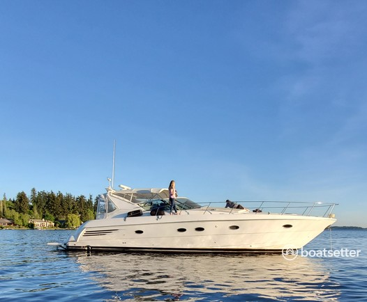 Rent a Trojan Yachts express cruiser in Seattle, WA near me