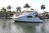 46 ft. Silverton Marine 410 Sport Bridge Cruiser Boat Rental Miami Image 2