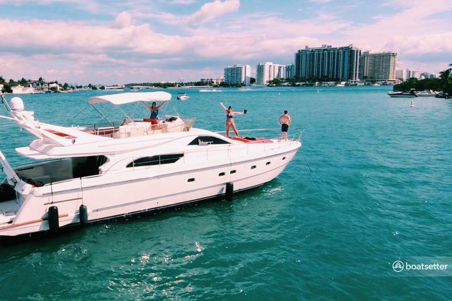 Rent a Ferretti motor yacht in Miami, FL near me