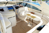 55 ft. Viking Princess Yacht 54 Convertible Cruiser Boat Rental Miami Image 5