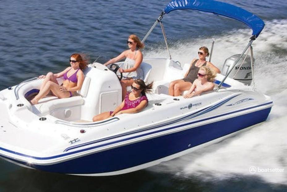 Rent a Hurricane Boats deck boat in San Diego, CA near me