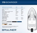 17 ft. Bayliner 170 4-S  Bow Rider Boat Rental Charleston Image 9