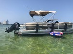 24 ft. Sun Tracker by Tracker Marine Party Barge 22 DLX w/115ELPT 4-S Pontoon Boat Rental Miami Image 9