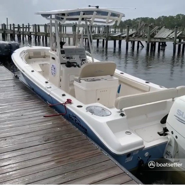 Rent a Sea Chaser by Carolina Skiff center console in Panacea, FL near me