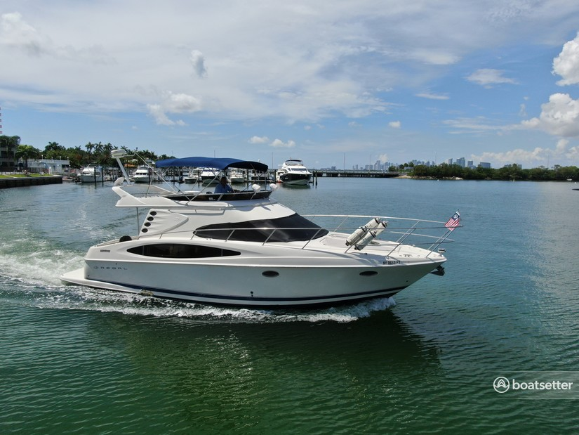 Rent a Regal Boats flybridge in North Bay Village, FL near me