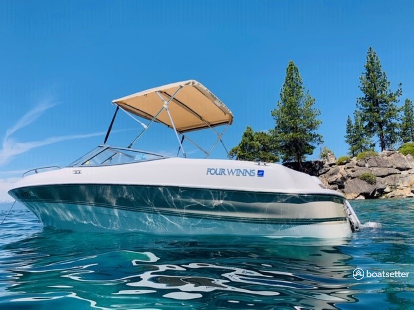 Rent a Four Winns Boats bow rider in South Lake Tahoe, CA near me