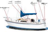 22 ft. Catalina 22 Swing Keel Daysailer & Weekender Boat Rental San Francisco Image 18