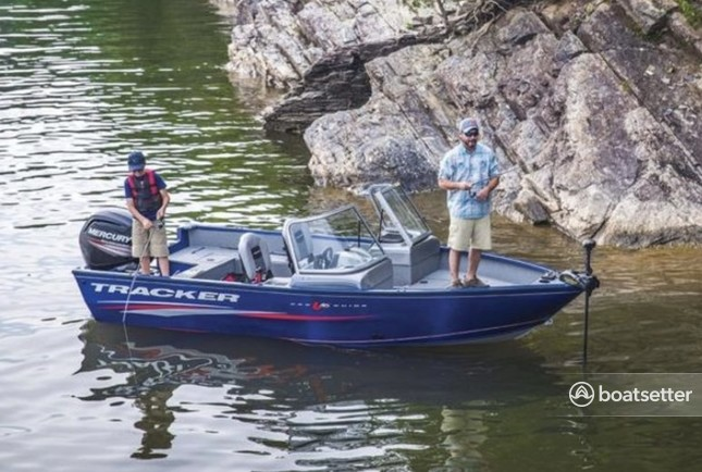 Rent a New Tracker Fishing Boat with full tank of gas!  in Cross Roads, TX near me