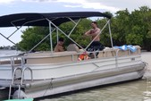 26 ft. Sun Tracker by Tracker Marine Party Barge 24 DLX w/60ELPT 4-S Pontoon Boat Rental Miami Image 4