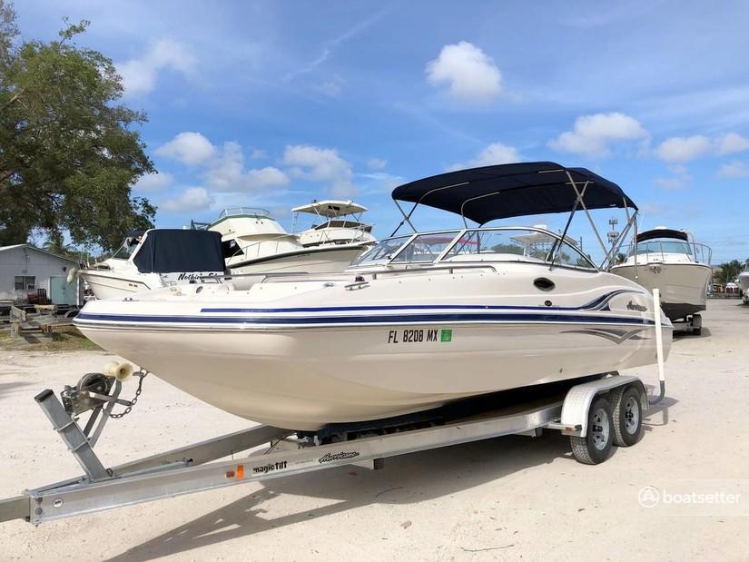 Rent a Hurricane Boats deck boat in Holmes Beach, FL near me