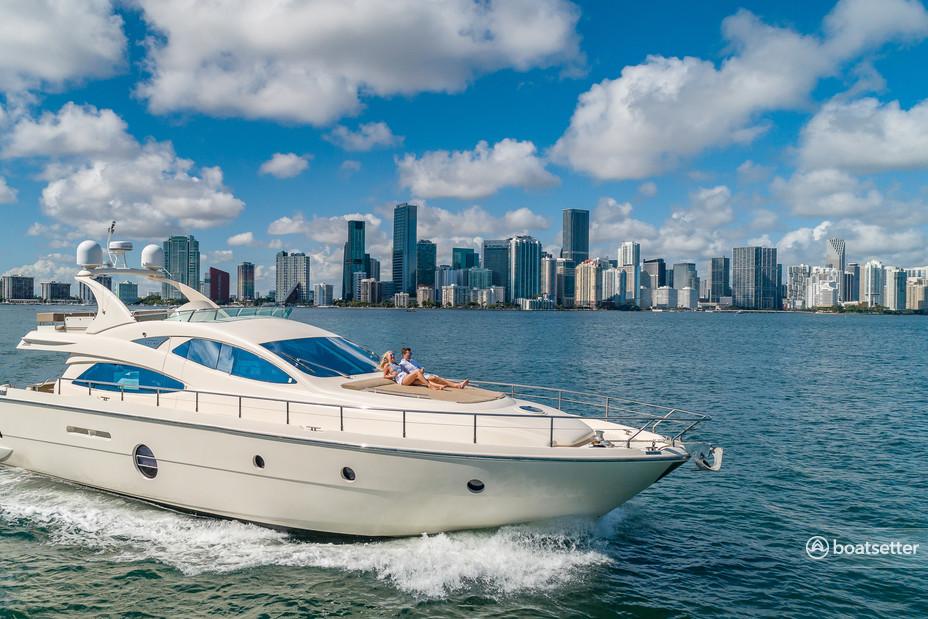 Rent a Aicon motor yacht in Miami, FL near me