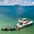 40 ft. Azimut Yachts 39 Flybridge Boat Rental Miami Image 9