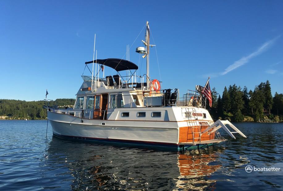 Rent a Grand Banks cruiser in Tacoma, WA near me