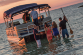 35 ft. Premier Marine 35' Pontoon Boat Rental Fort Myers Image 4