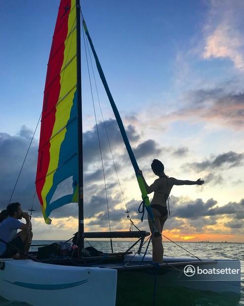 Rent a Hobie Cat Boats catamaran in Miami, FL near me