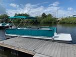 20 ft. Summer Breeze 8x20 2-Hull w/bimini top Pontoon Boat Rental Tampa Image 1
