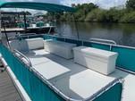 20 ft. Summer Breeze 8x20 2-Hull w/bimini top Pontoon Boat Rental Tampa Image 2