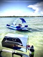 22 ft. Sun Tracker by Tracker Marine Party Barge 22 DLX w/115ELPT 4-S Pontoon Boat Rental Miami Image 13