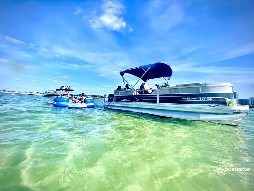 Rent a Sun Tracker by Tracker Marine pontoon in North Miami Beach, FL near me