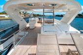 "75 ft. Lazzara Marine 75'4"" E Cruiser Boat Rental Miami Image 3"