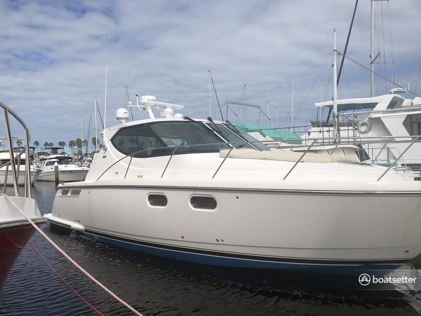 Rent a Tiara Yachts express cruiser in Daytona Beach, FL near me