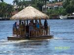 16 ft. Floating Tiki Bar  Pontoon Boat Rental Miami Image 1