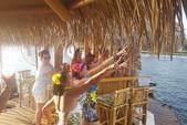 16 ft. Floating Tiki Bar  Pontoon Boat Rental Miami Image 2