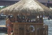 16 ft. Floating Tiki Bar  Pontoon Boat Rental Miami Image 3