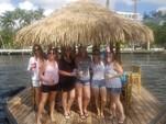 16 ft. Floating Tiki Bar  Pontoon Boat Rental Miami Image 4