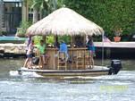 16 ft. Floating Tiki Bar  Pontoon Boat Rental Miami Image 6
