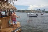 16 ft. Floating Tiki Bar  Pontoon Boat Rental Miami Image 7