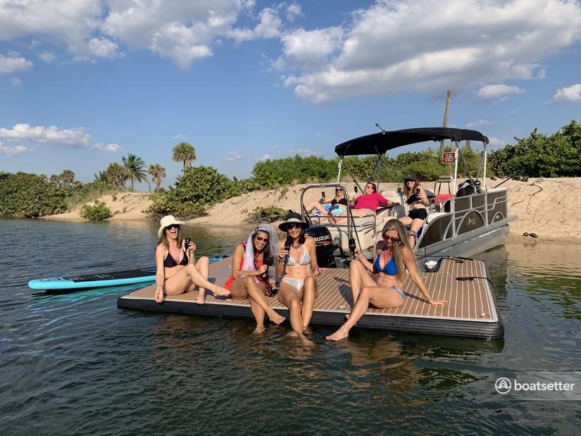 Rent a Hampton by Playcraft pontoon in Fort Lauderdale, FL near me