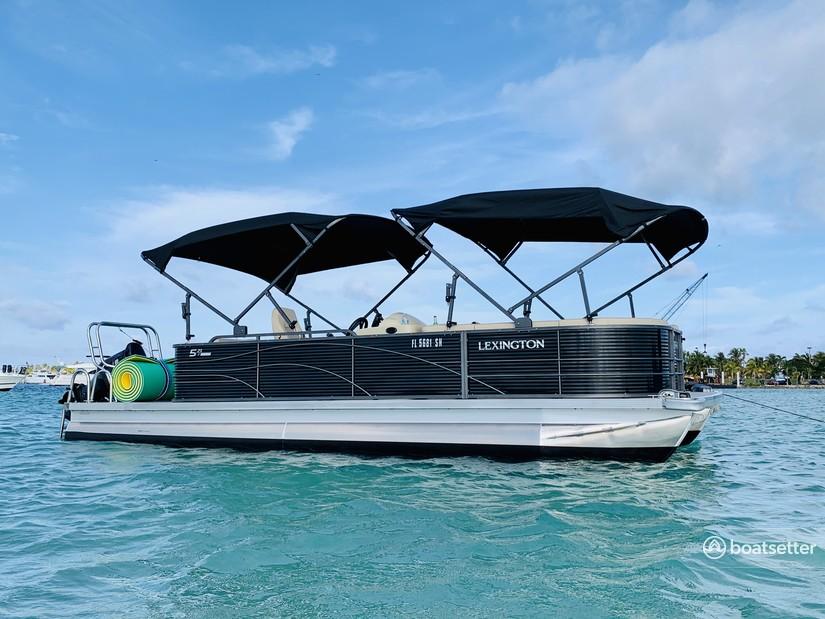 Rent a Lexington Pontoons pontoon in North Miami Beach, FL near me