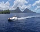 50 ft. Leopard Powercat Catamaran Boat Rental Marigot Bay Image 3