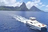 50 ft. Leopard Powercat Catamaran Boat Rental Marigot Bay Image 4