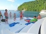 50 ft. Leopard Powercat Catamaran Boat Rental Marigot Bay Image 6