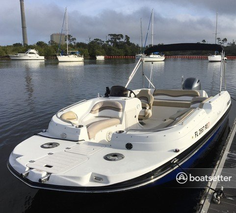 Rent a Starcraft Marine deck boat in Holiday, FL near me