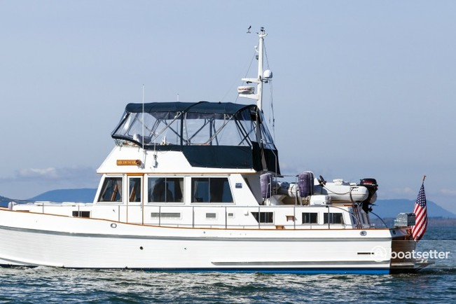 Rent a Grand Banks pilothouse in Bellingham, WA near me