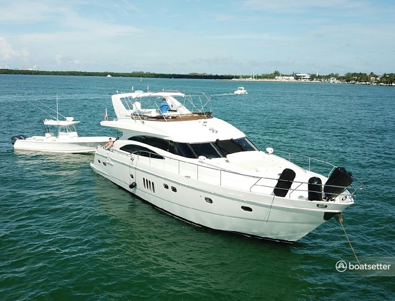 Rent a Viking Yacht flybridge in Coral Gables, FL near me