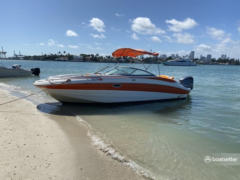 Rent a Azure by Bennington bow rider in Key Biscayne, FL near me