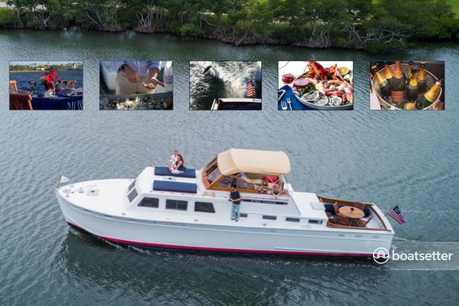 Rent a Huckins motor yacht in Sag Harbor, NY near me