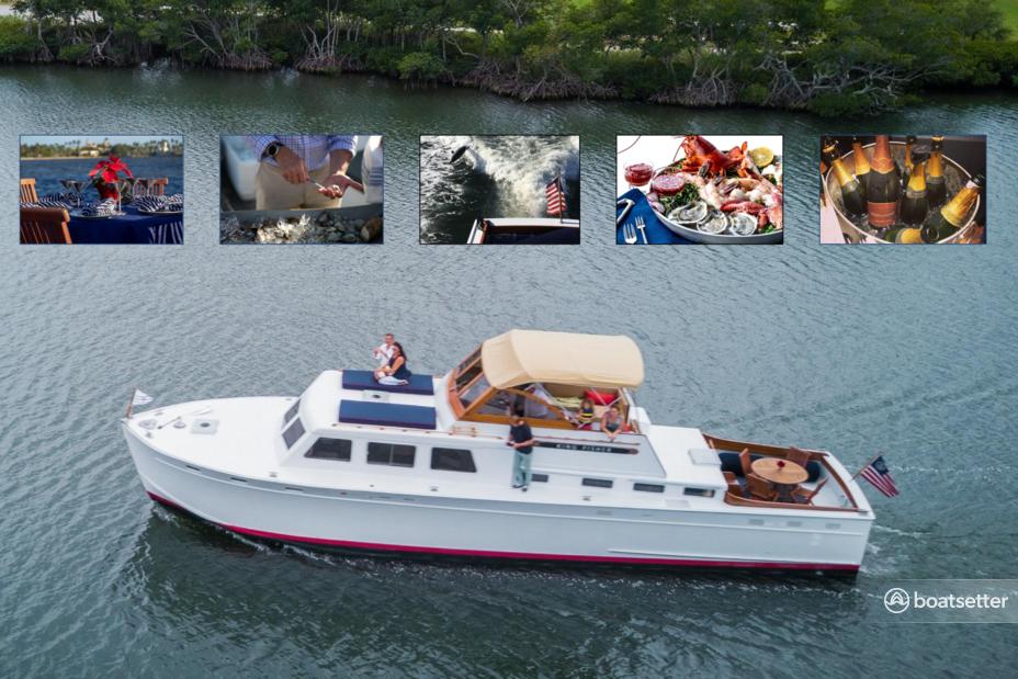 Rent a Huckins motor yacht in West Palm Beach, FL near me