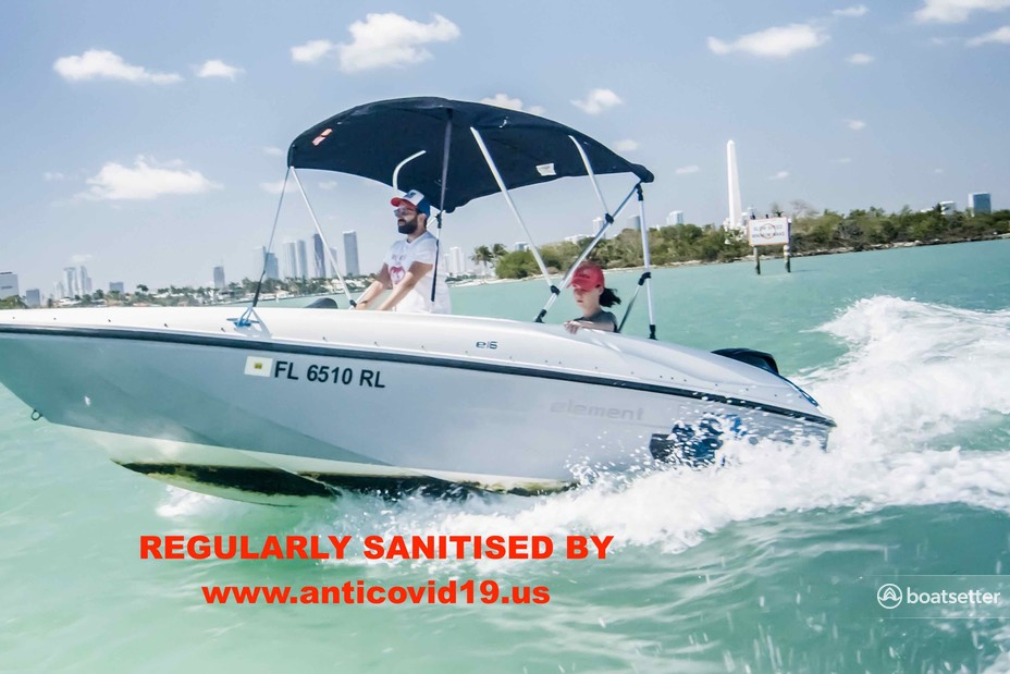 Rent a Bayliner bow rider in Miami Beach, FL near me
