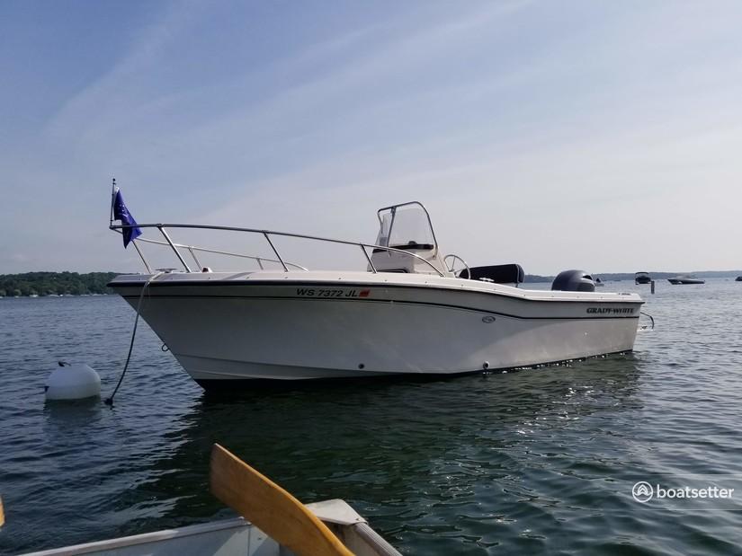 Rent a Grady-White Boats center console in Fontana-on-Geneva Lake, WI near me