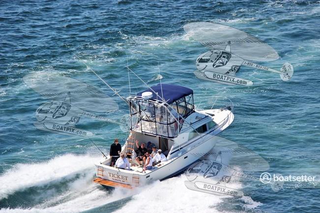 Rent a Bertram Yacht saltwater fishing in Falmouth, MA near me