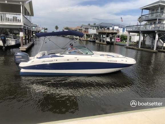 Rent a Hurricane Boats deck boat in Galveston, TX near me